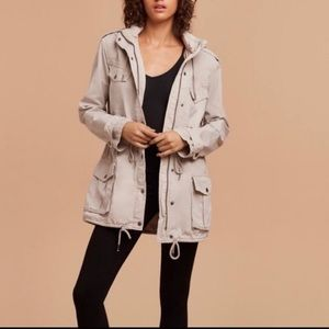 Wilfred Aritzia Wiltern Gray Utility Jacket Size L